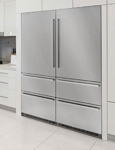Refrigerador de Embutir Para Revestir em Inox SBS 30HS1