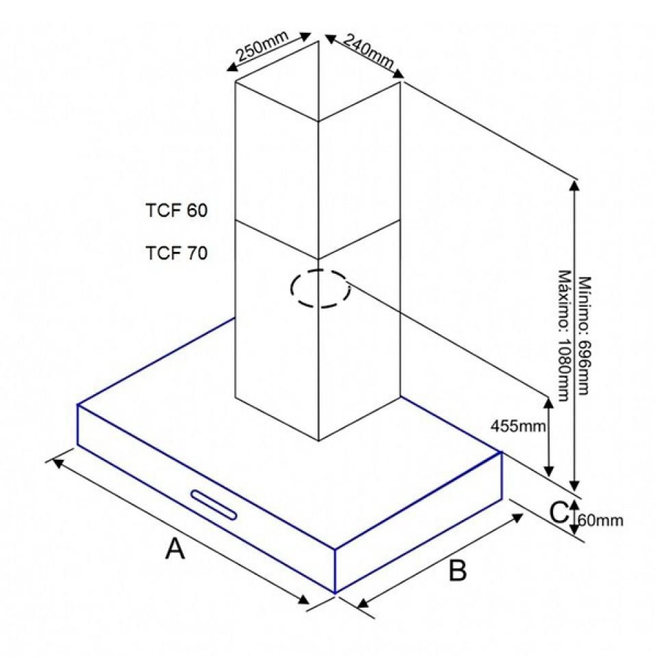Coifa TCF 70