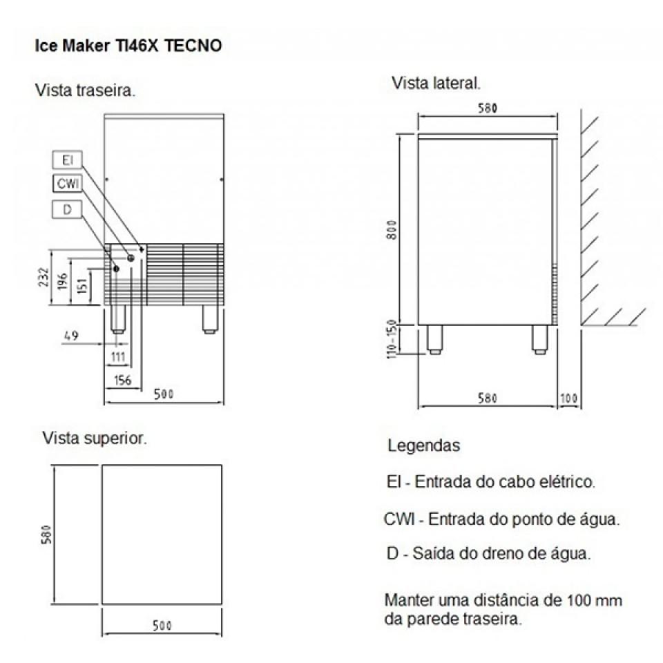 Máquina de gelo TI46X