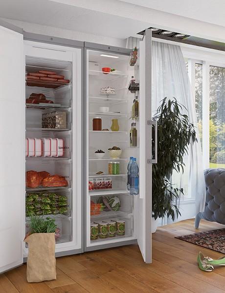 Freezer Vertical c/acabamento em inox