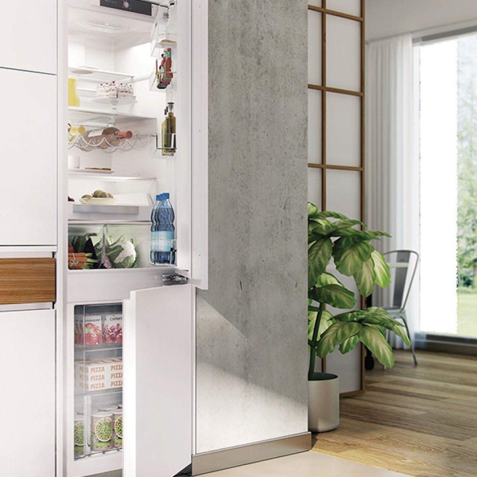 Refrigerador Bottom Freezer de Embutir e Revestir