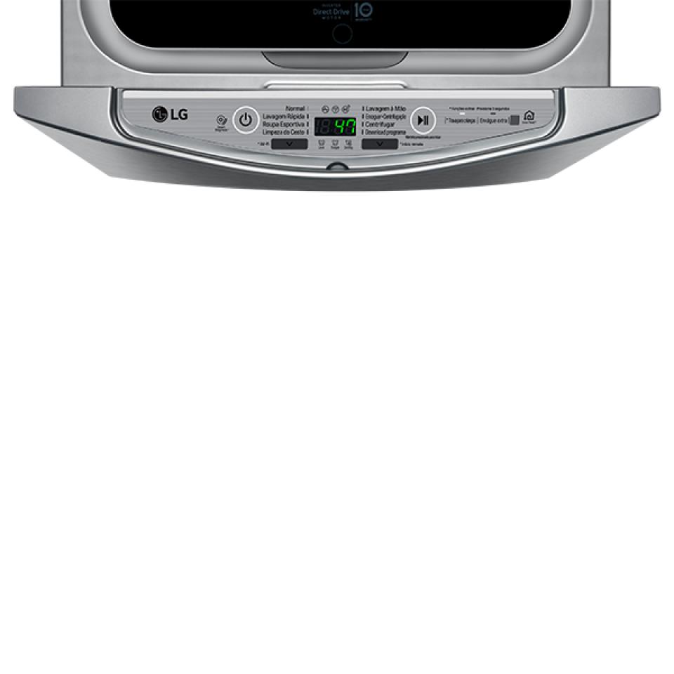 Lavadora LG TWINWash Mini Lunar 2Kg Prata