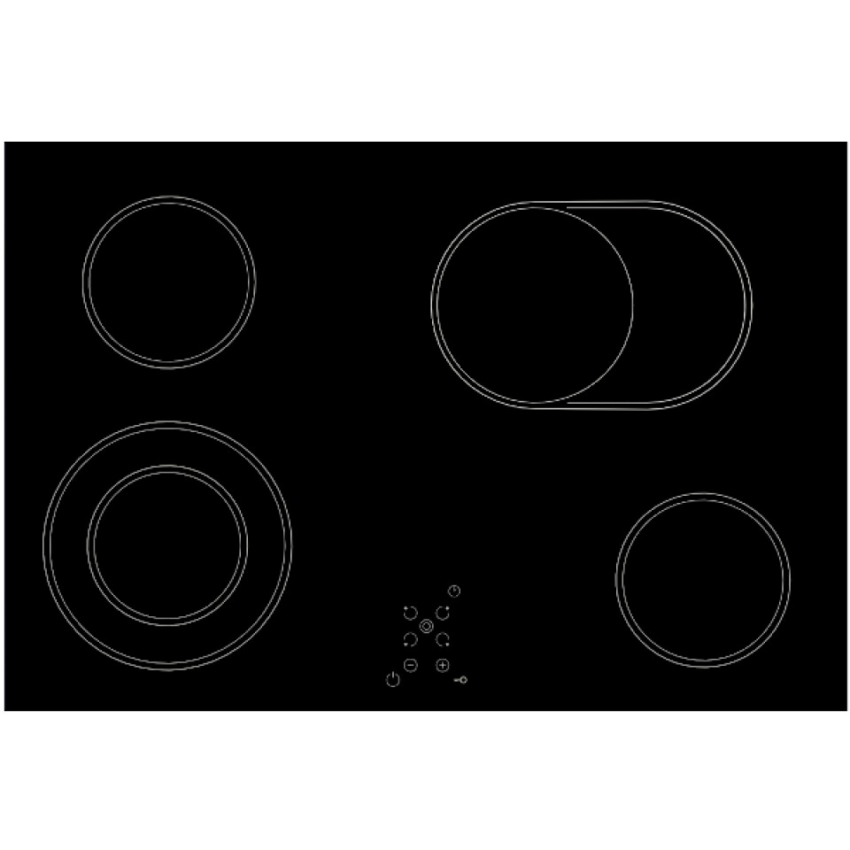 Cooktop Vitrocerâmico elétrico
