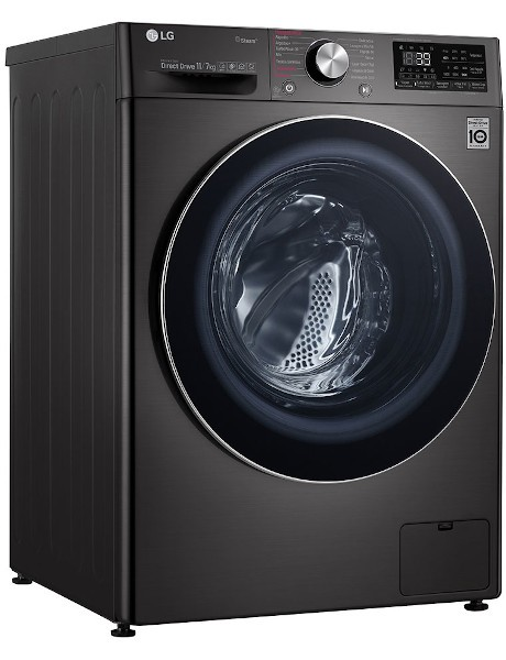 Lava e Seca Smart VC2 11kg com Inteligência Artificial Black Stainless